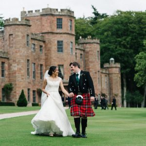 Fasque Castle Bride and Groom Aberdeen